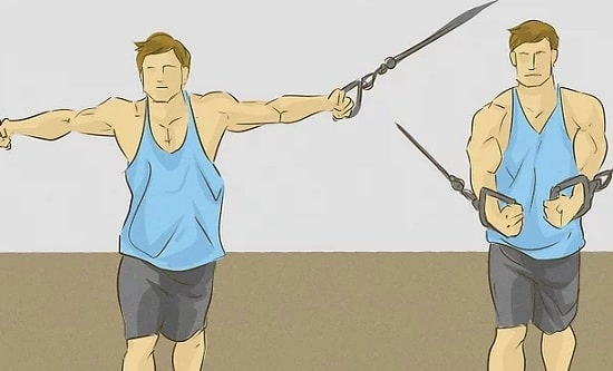 حرکت کراساور با کابل را انجام دهید