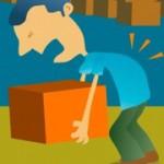 کمردرد ناشی از فشار بر ستون فقرات
